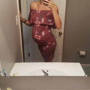 Dresses & Skirts - Off the shoulder maternity dress